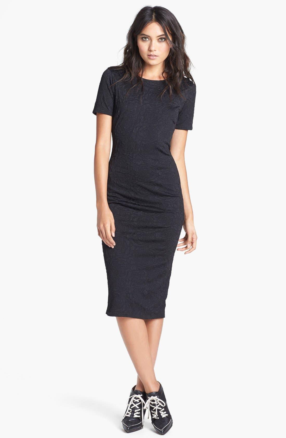 Alternate Image 1 Selected - Tildon Textured Body-Con Dress