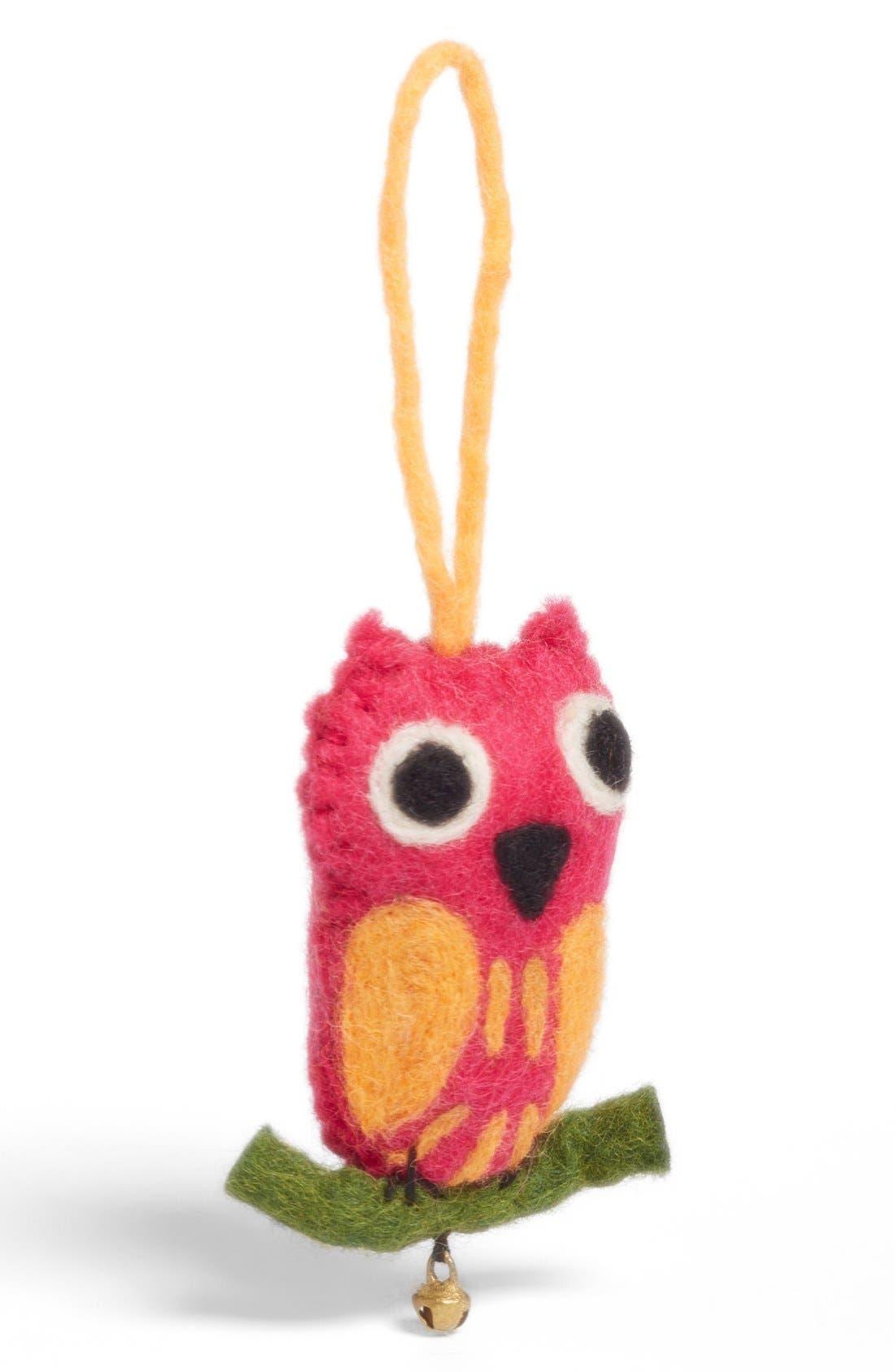 Alternate Image 1 Selected - Shiraleah Felt Owl Ornament