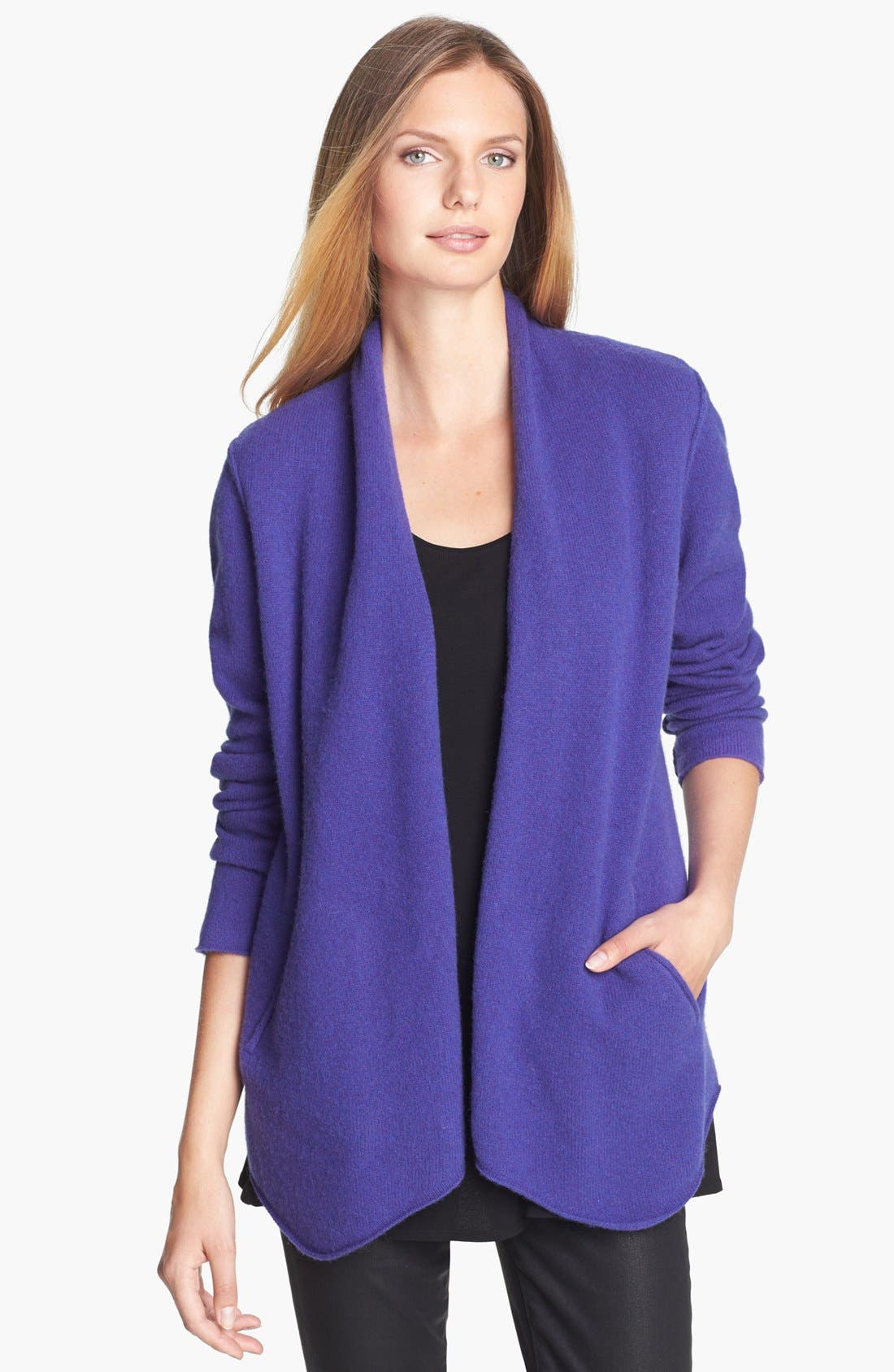 Felted Wool Jacket,                         Main,                         color, Viola