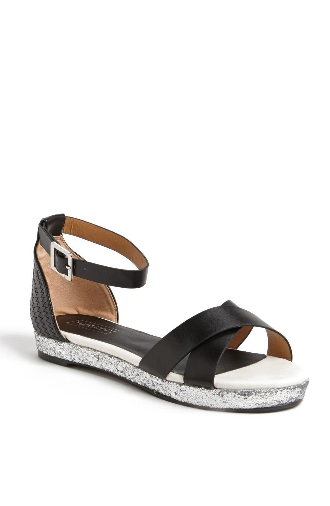 Alternate Image 1 Selected - Topshop 'Hyper Glitter' Sandal