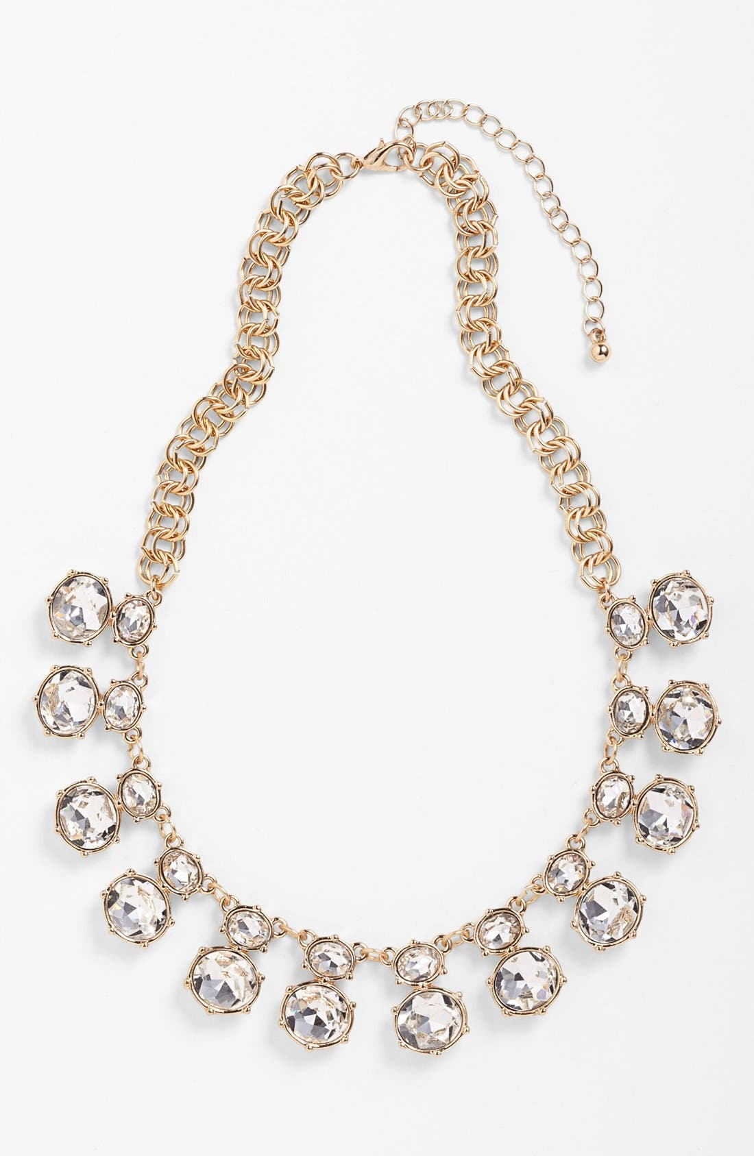 Crystal Statement Necklace,                             Main thumbnail 1, color,                             Clear/ Gold