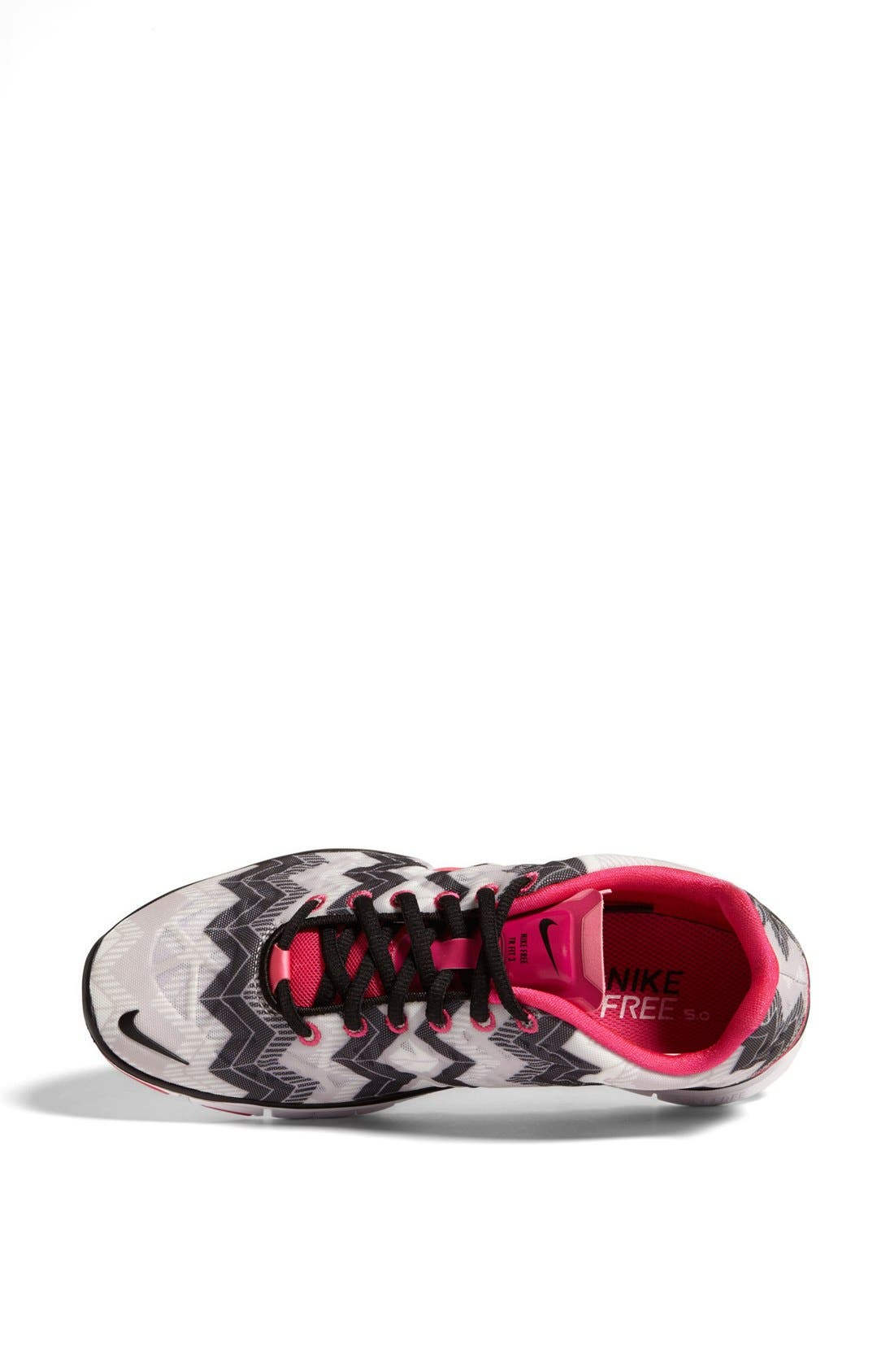 'Free TR Fit 3 Print' Training Shoe,                             Alternate thumbnail 3, color,                             Grey/ Black/ Pink Foil