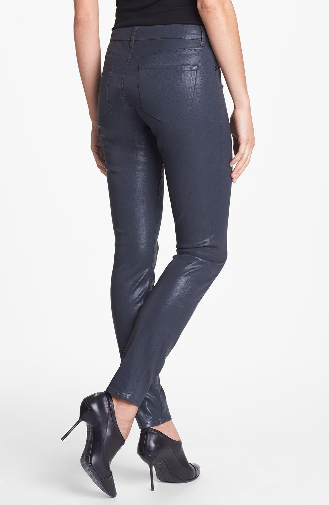 Alternate Image 2  - Elie Tahari 'Azella' Skinny Jeans (Titanium)