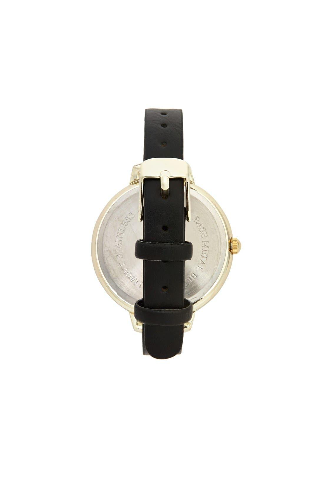 Alternate Image 2  - Titanium Leopard Face Skinny Watch, 40mm (Juniors)