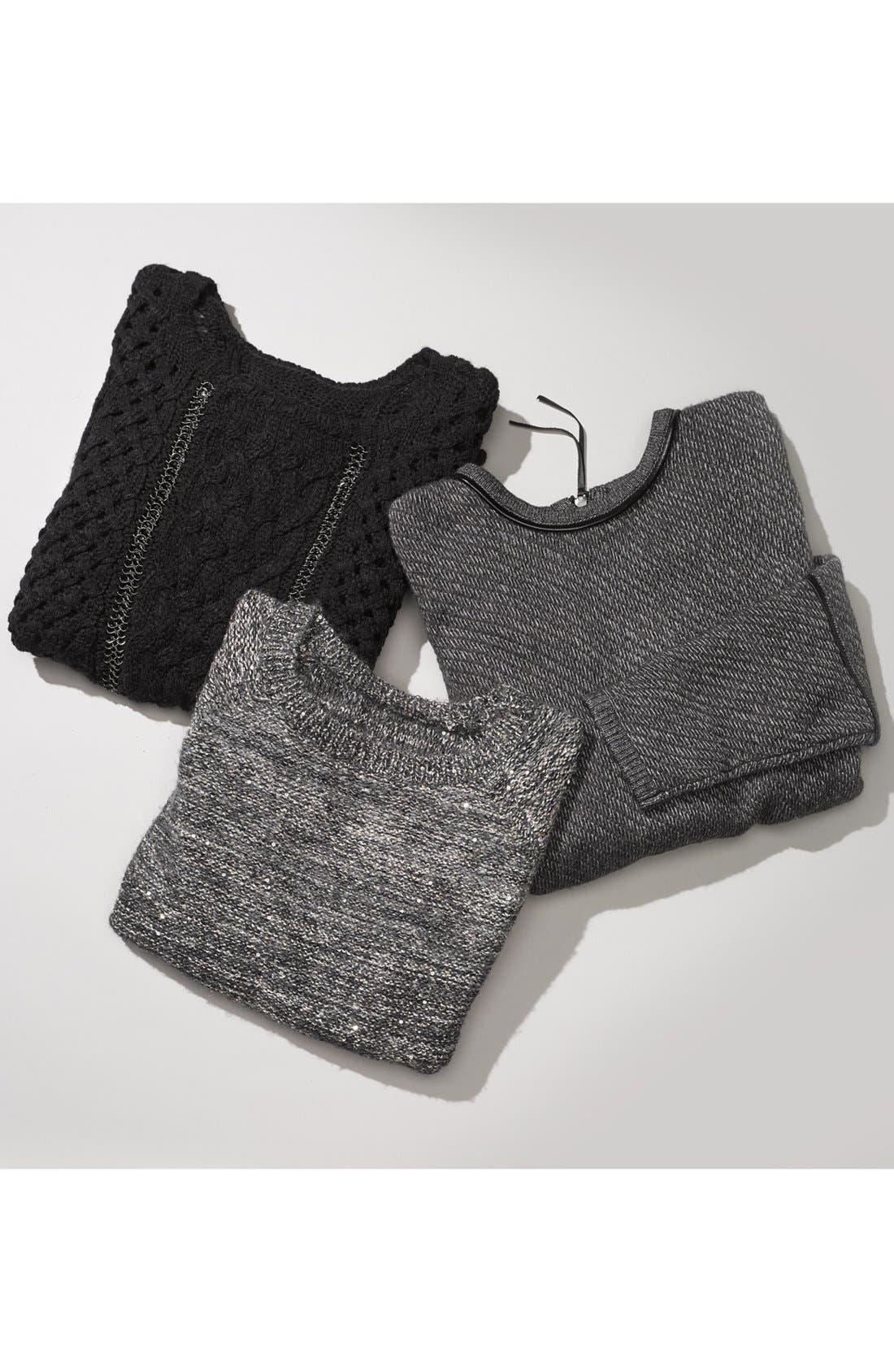 Alternate Image 4  - Trouvé Chain Detail Mix Knit Sweater