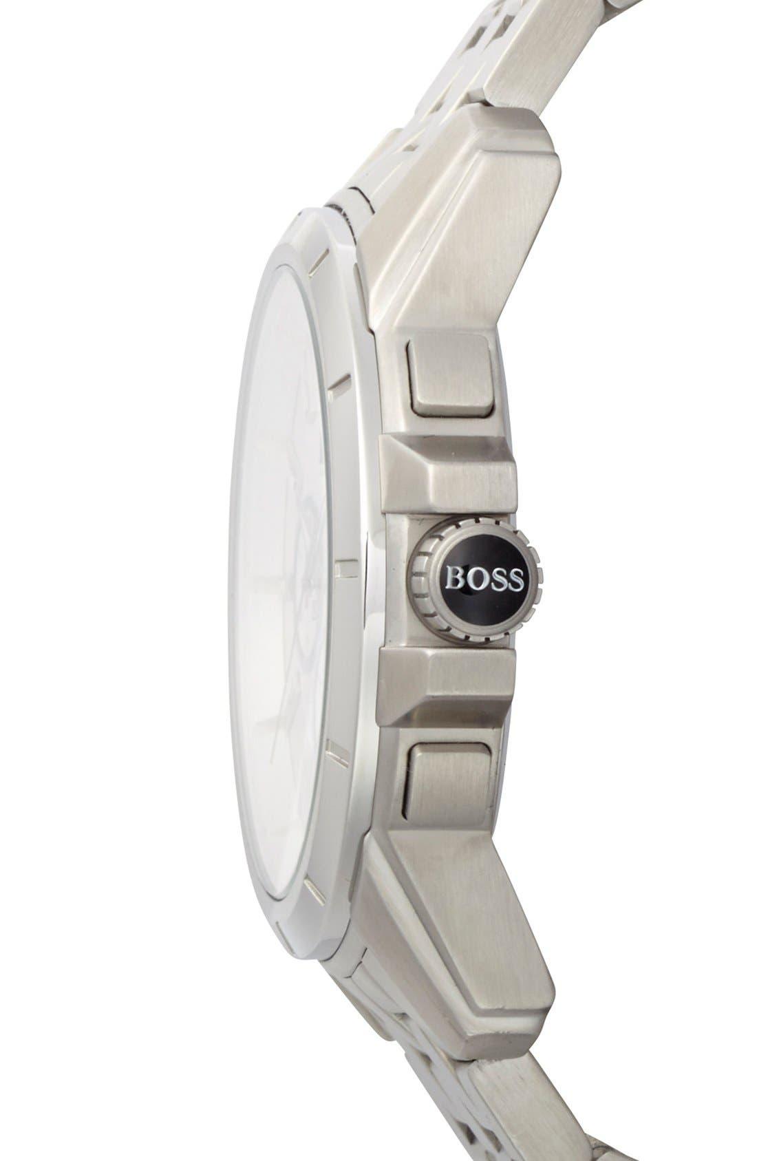 Alternate Image 2  - BOSS HUGO BOSS Chronograph Bracelet Watch, 46mm