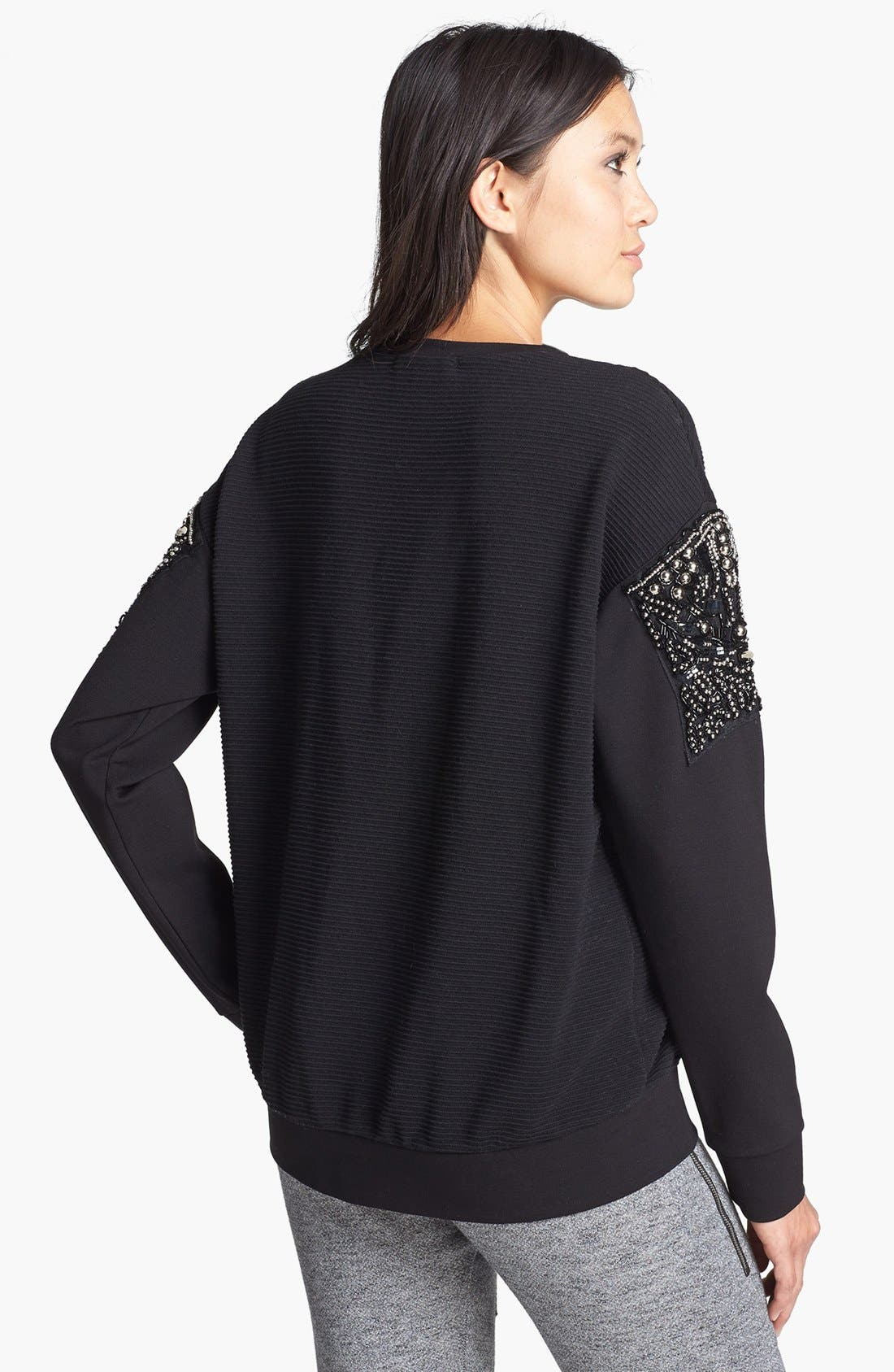 Alternate Image 2  - Rules of Etiquette 'Arm Candy' Embellished Sweatshirt
