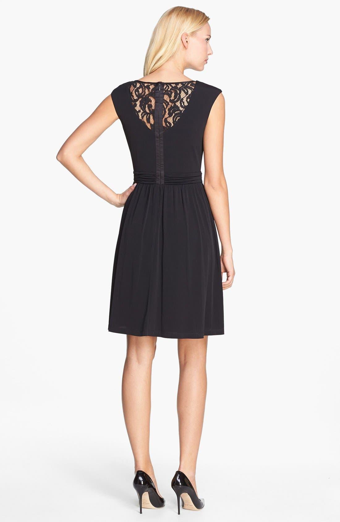 Alternate Image 3  - Ellen Tracy Embellished Lace Back Crepe Dress