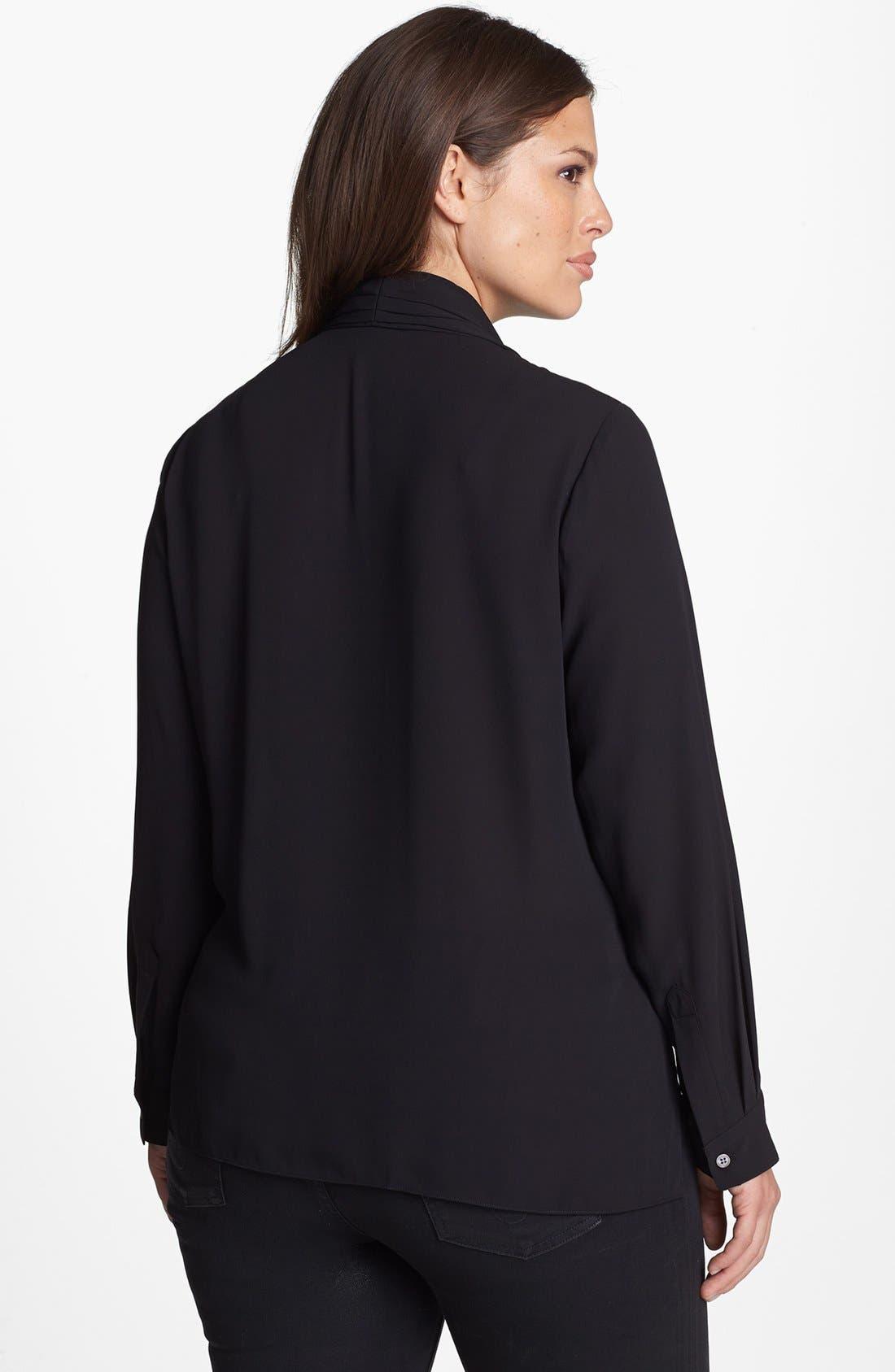 Alternate Image 2  - Vince Camuto Wrap Front Shirttail Blouse (Plus Size)