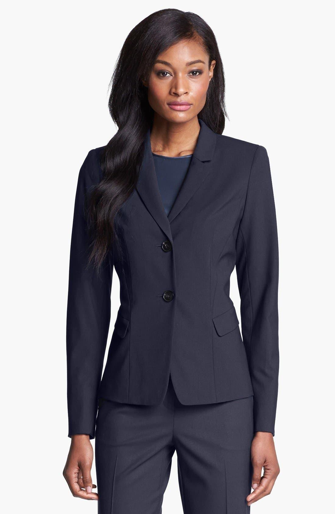 Alternate Image 1 Selected - Lafayette 148 New York 'Willa' Stretch Wool Jacket