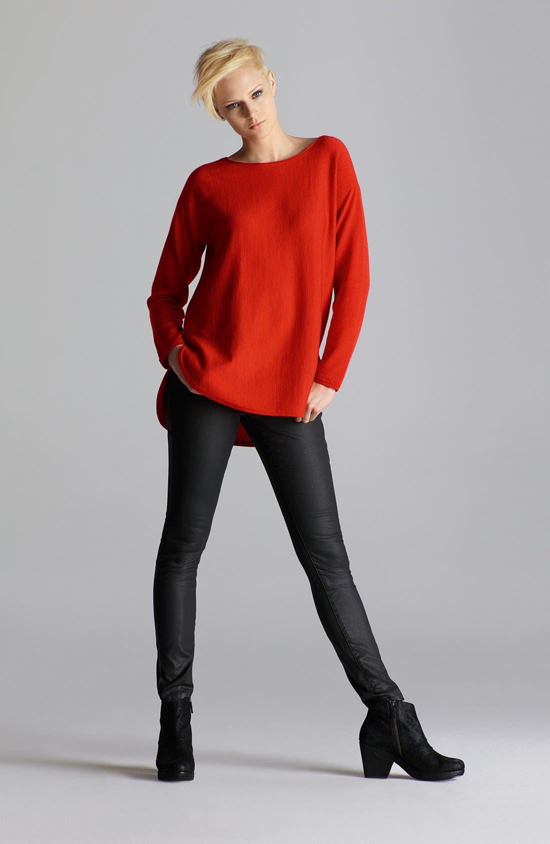 Alternate Image 7  - Eileen Fisher Waxed Denim Skinny Jeans