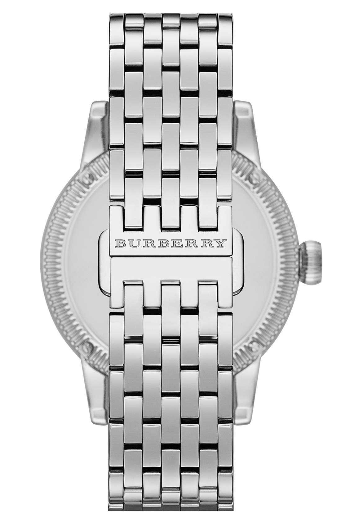 Alternate Image 4  - Burberry Round Bracelet Watch, 38mm
