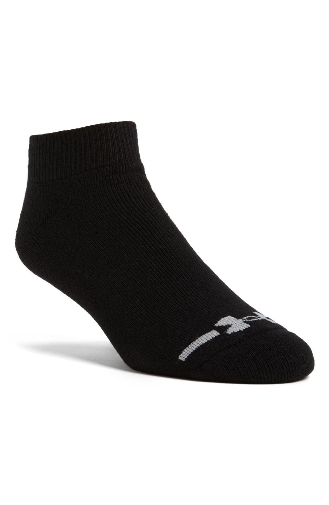 Main Image - Under Armour 'Charged' No Show Socks (6-Pack)
