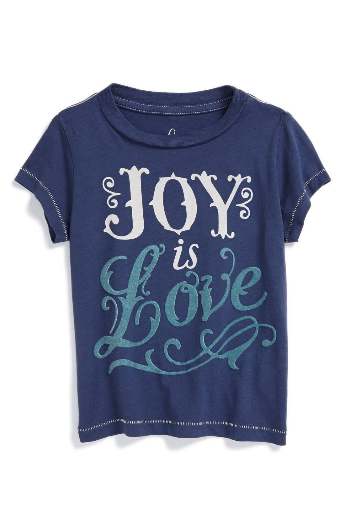 Alternate Image 1 Selected - Peek 'Joy Is Love' Tee (Baby Girls)