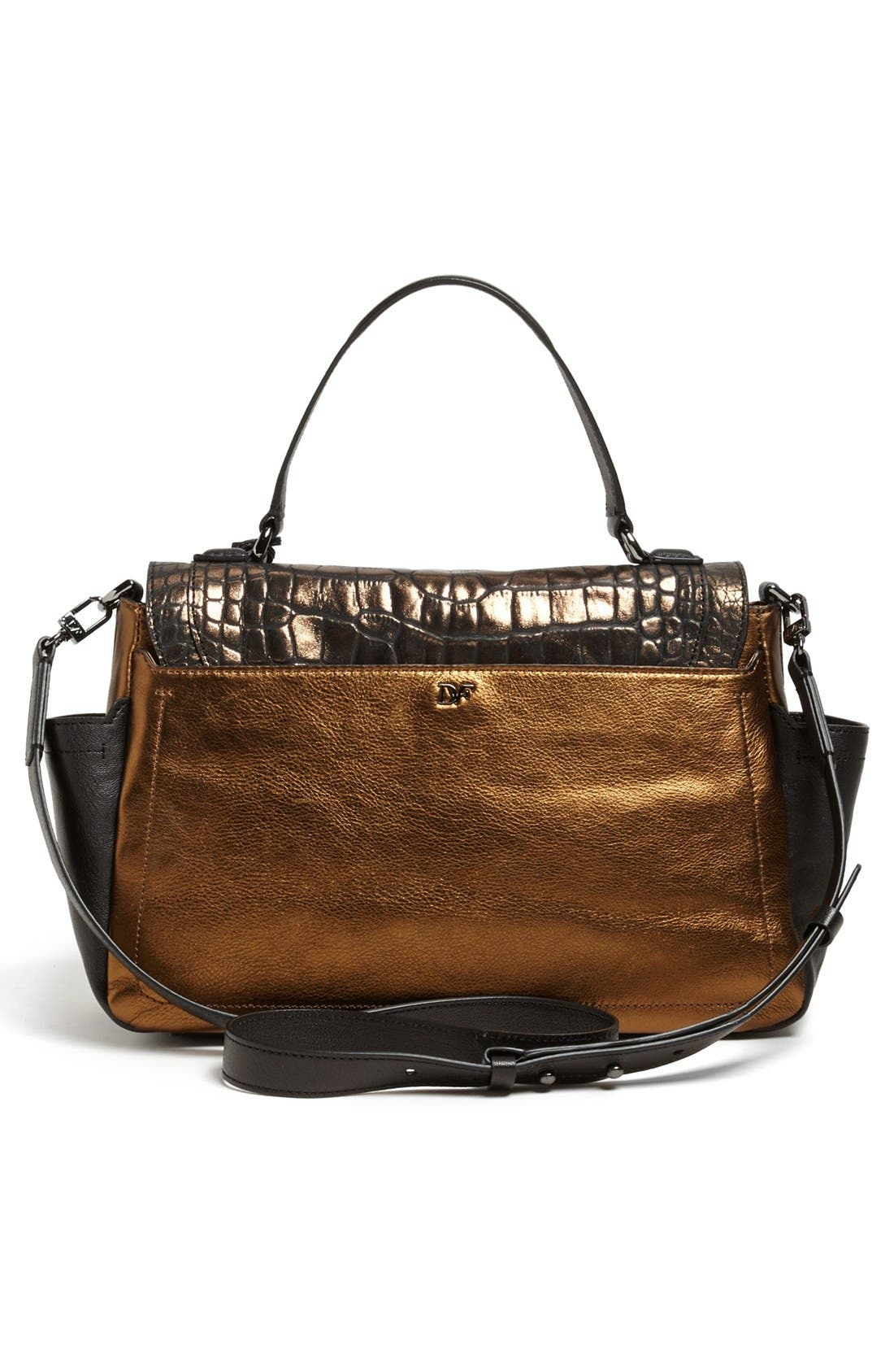 Alternate Image 4  - Diane von Furstenberg 'Highline Courier' Leather Satchel
