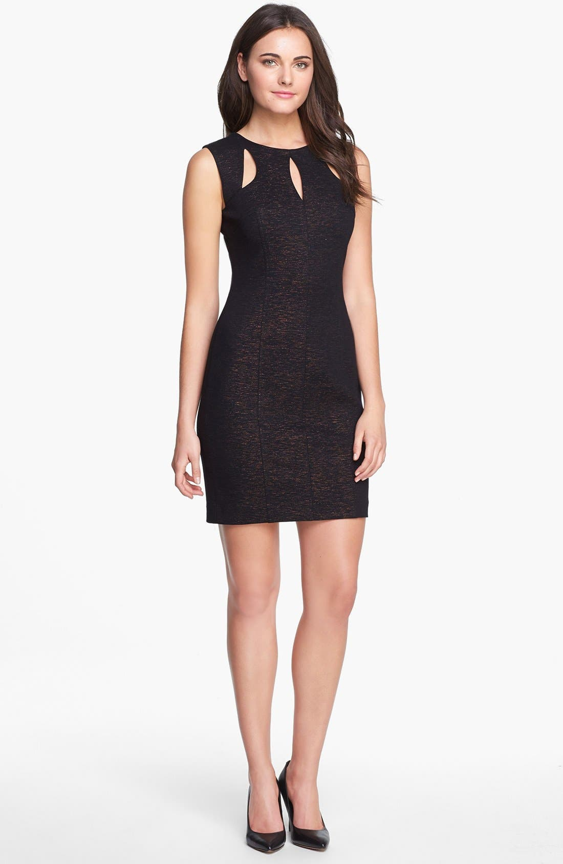 Main Image - Laundry by Shelli Segal Metallic Cutout Ponte Dress