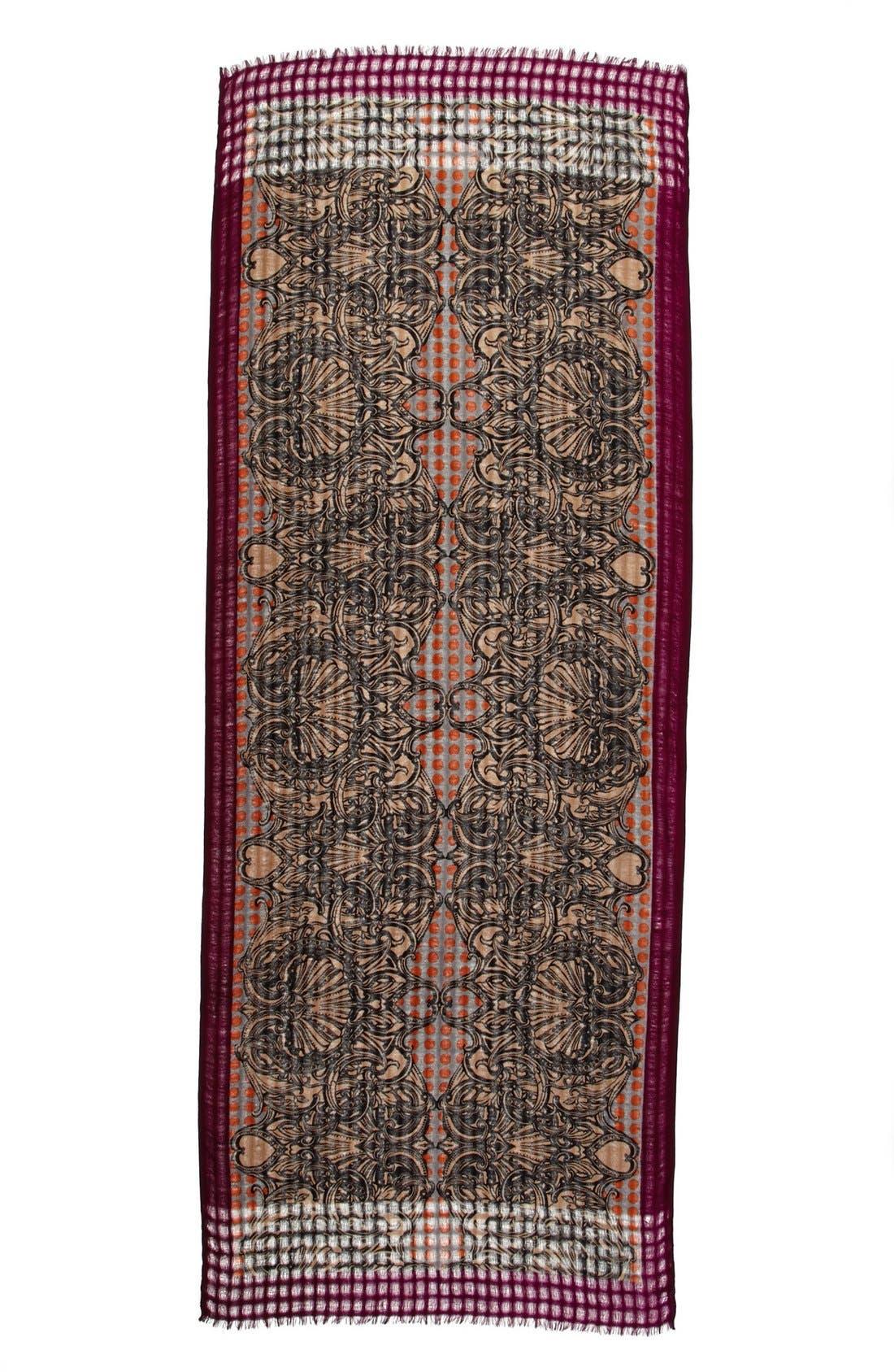 Alternate Image 2  - Nordstrom 'Spaced Scroll' Wool Scarf