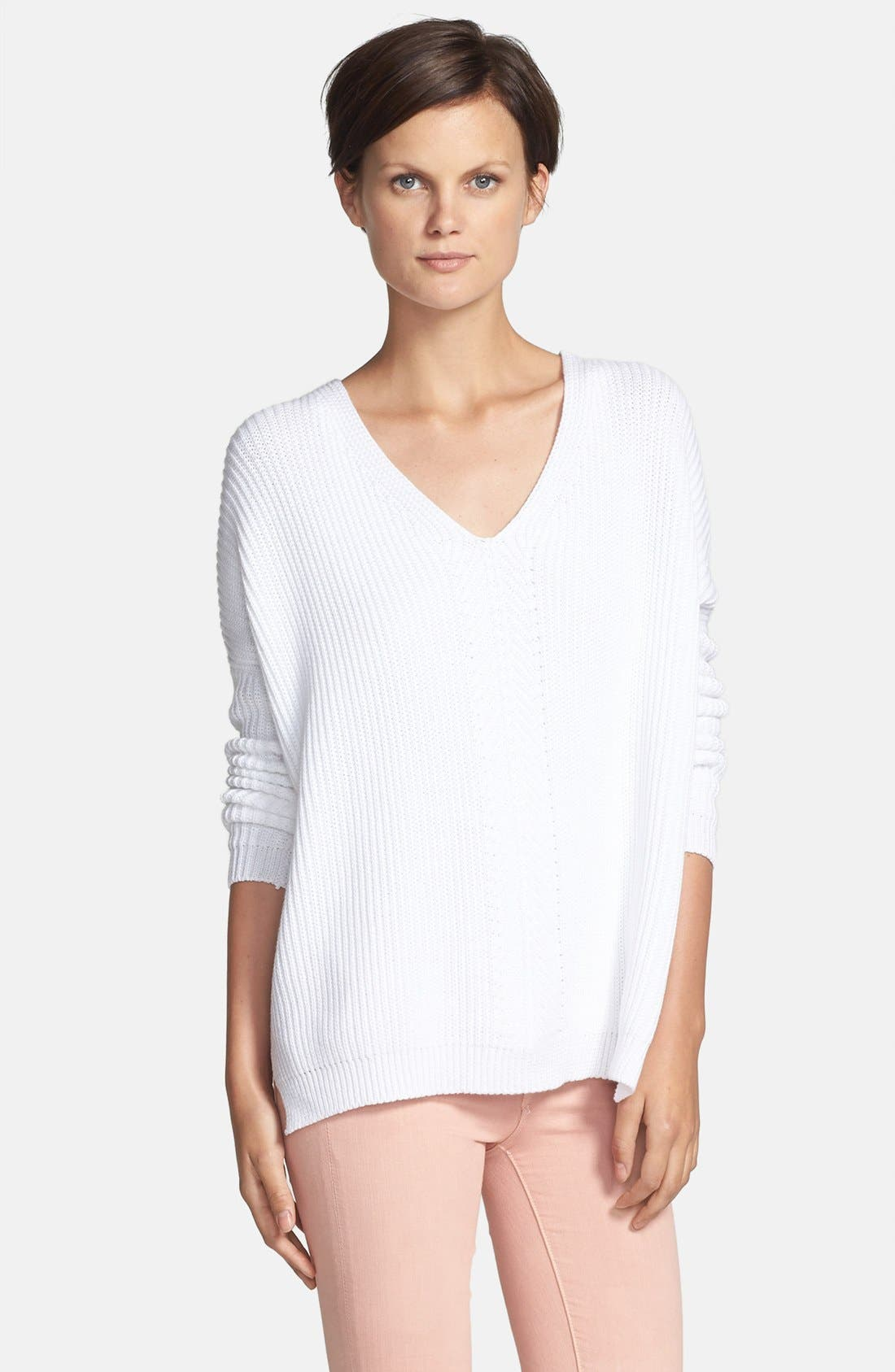 Main Image - Vince 'Directional' V-Neck Ribbed Sweater