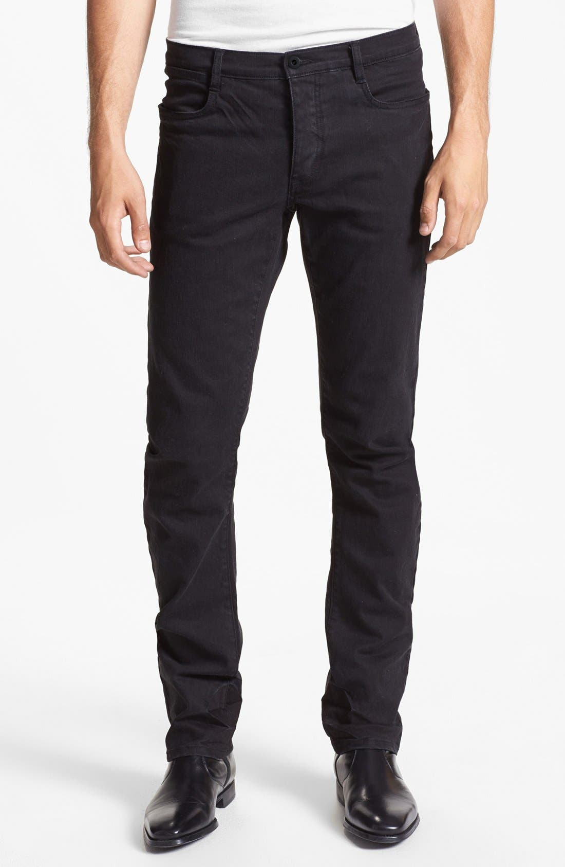 Alternate Image 1 Selected - Kenneth Cole Collection Slim Fit Jeans (Black)
