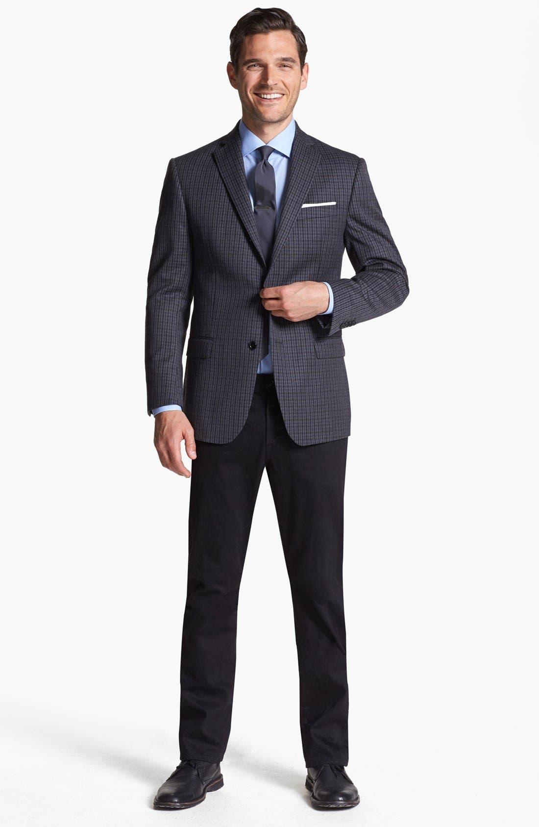 Alternate Image 4  - Michael Kors Trim Fit Plaid Sportcoat