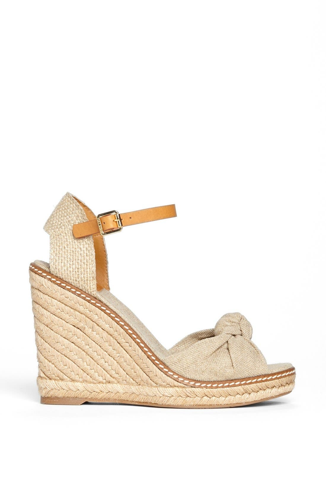 Alternate Image 4  - Tory Burch 'Macy' Leather Wedge Espadrille Sandal