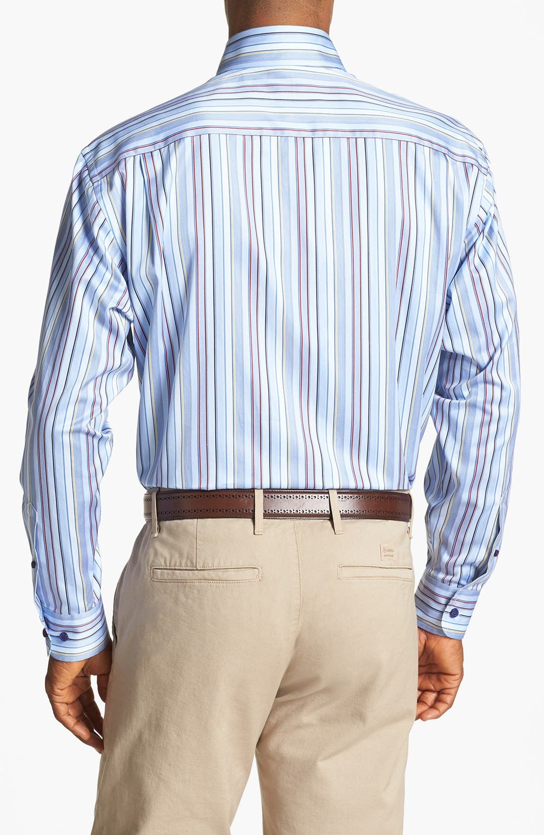 Alternate Image 2  - Robert Talbott Stripe Classic Fit Sport Shirt