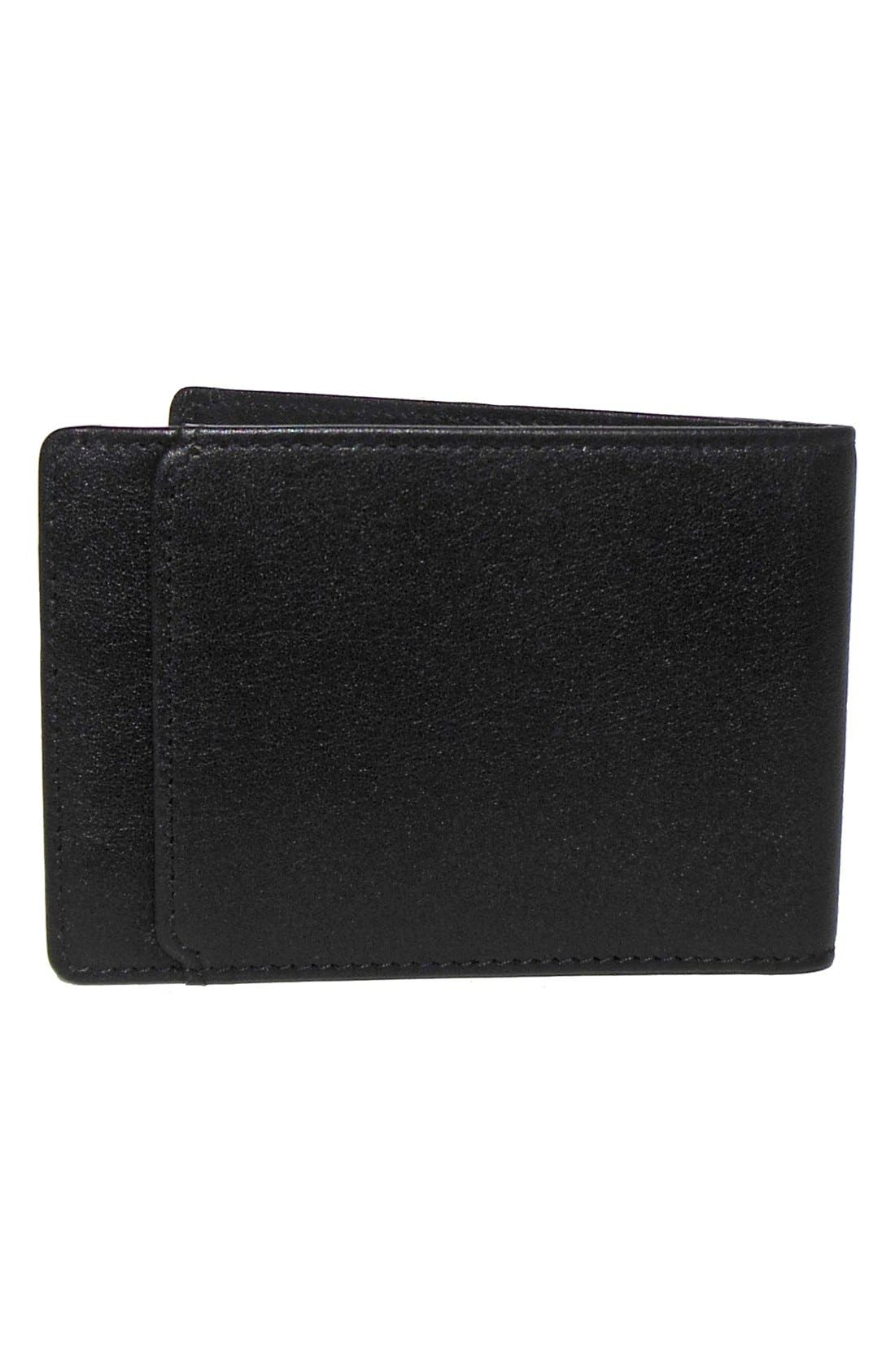 'Grant Slimster' RFID Blocker Leather Wallet,                             Alternate thumbnail 3, color,                             Black/ Grey