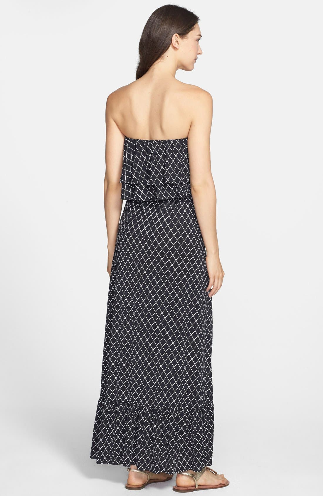 Alternate Image 3  - Tbags Los Angeles Ruffle Trim Jersey Maxi Dress