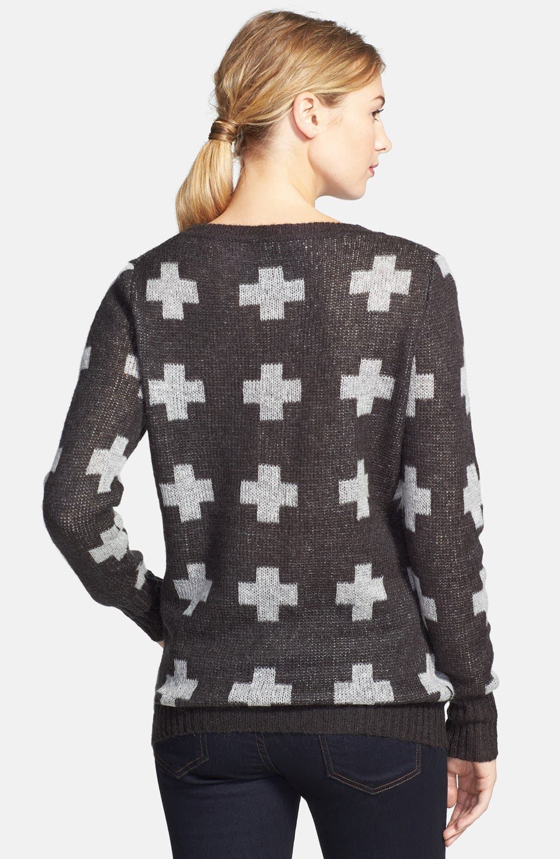 Alternate Image 2  - Press Intarsia Tunic Sweater