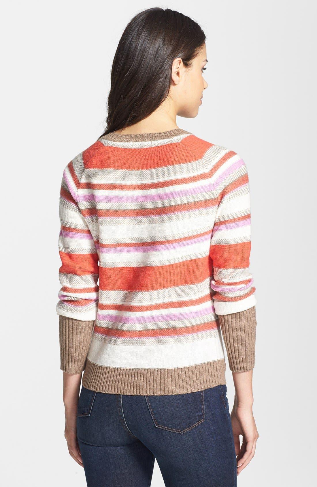 Alternate Image 2  - Halogen® Open Crewneck Sweater