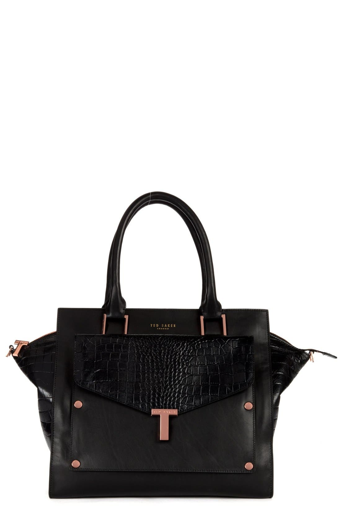 Main Image - Ted Baker London Leather Tote