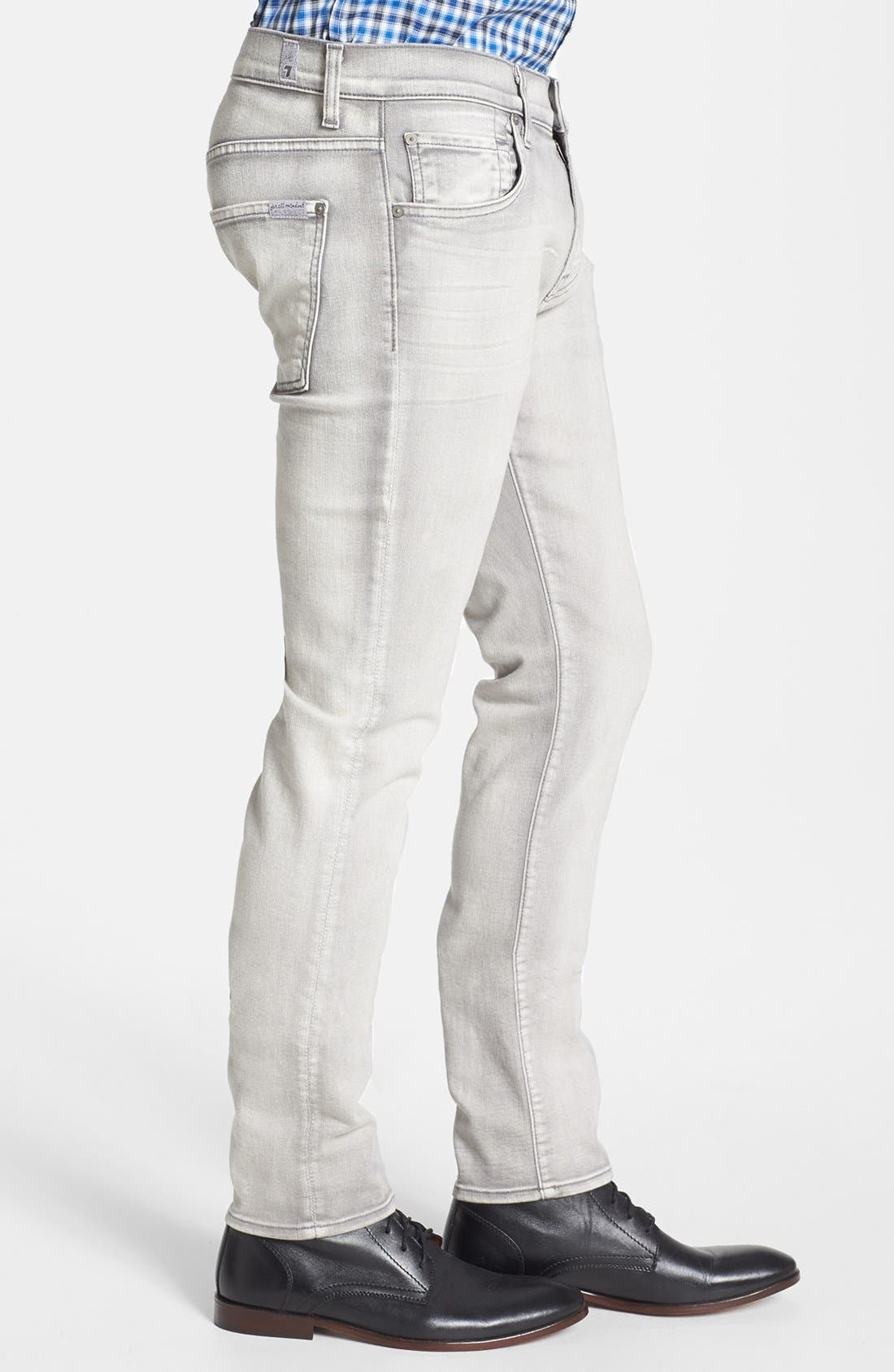 Alternate Image 3  - 7 For All Mankind® 'Paxtyn' Skinny Fit Jeans (Weathered White)