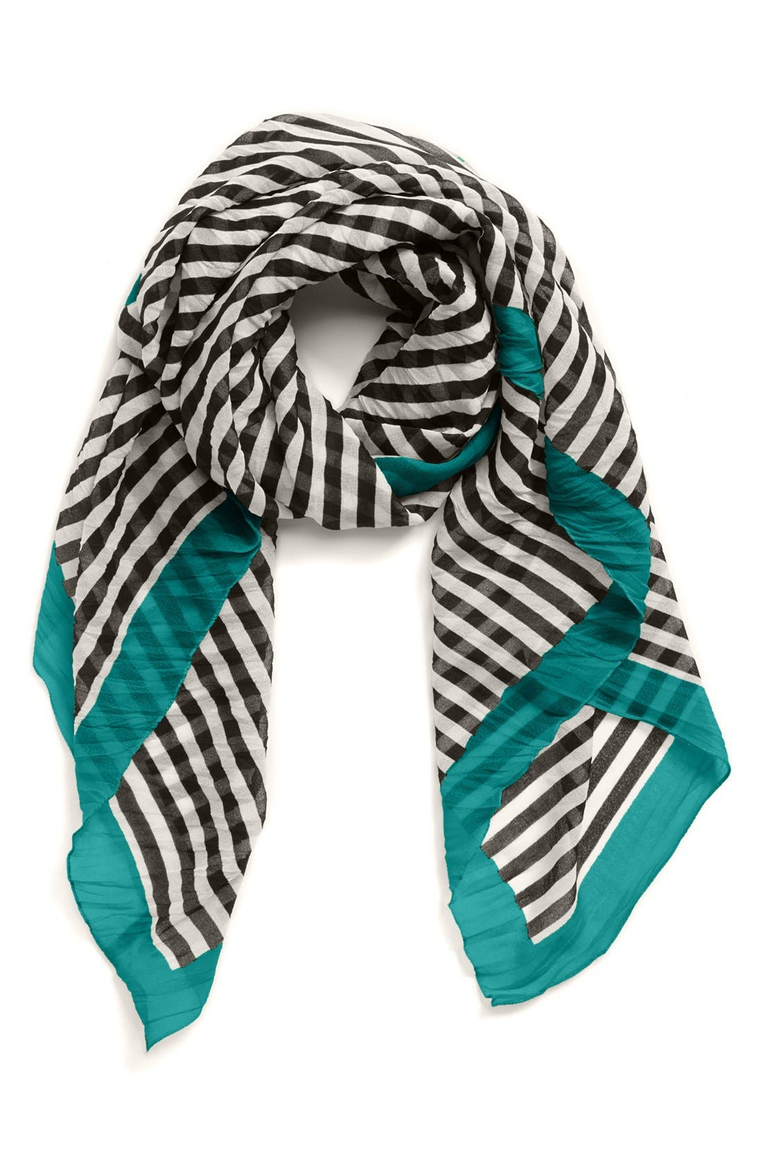 Alternate Image 1 Selected - Nordstrom Stripe Square Scarf