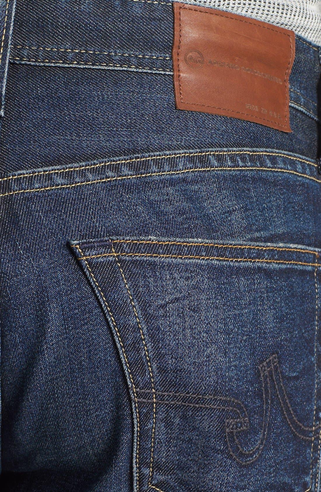 Alternate Image 4  - AG 'Protégé' Straight Leg Jeans (5 Year Lounge)