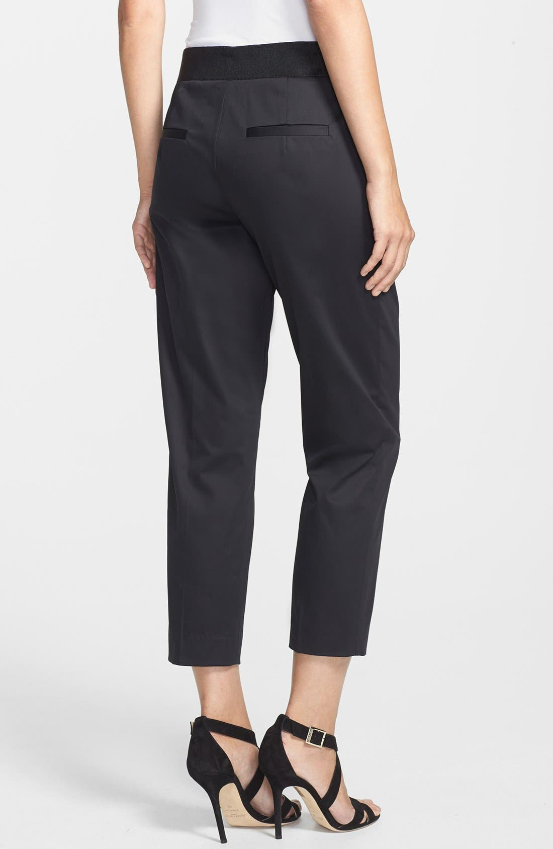 Alternate Image 2  - Milly 'Laney' Cropped Stretch Cotton Trousers