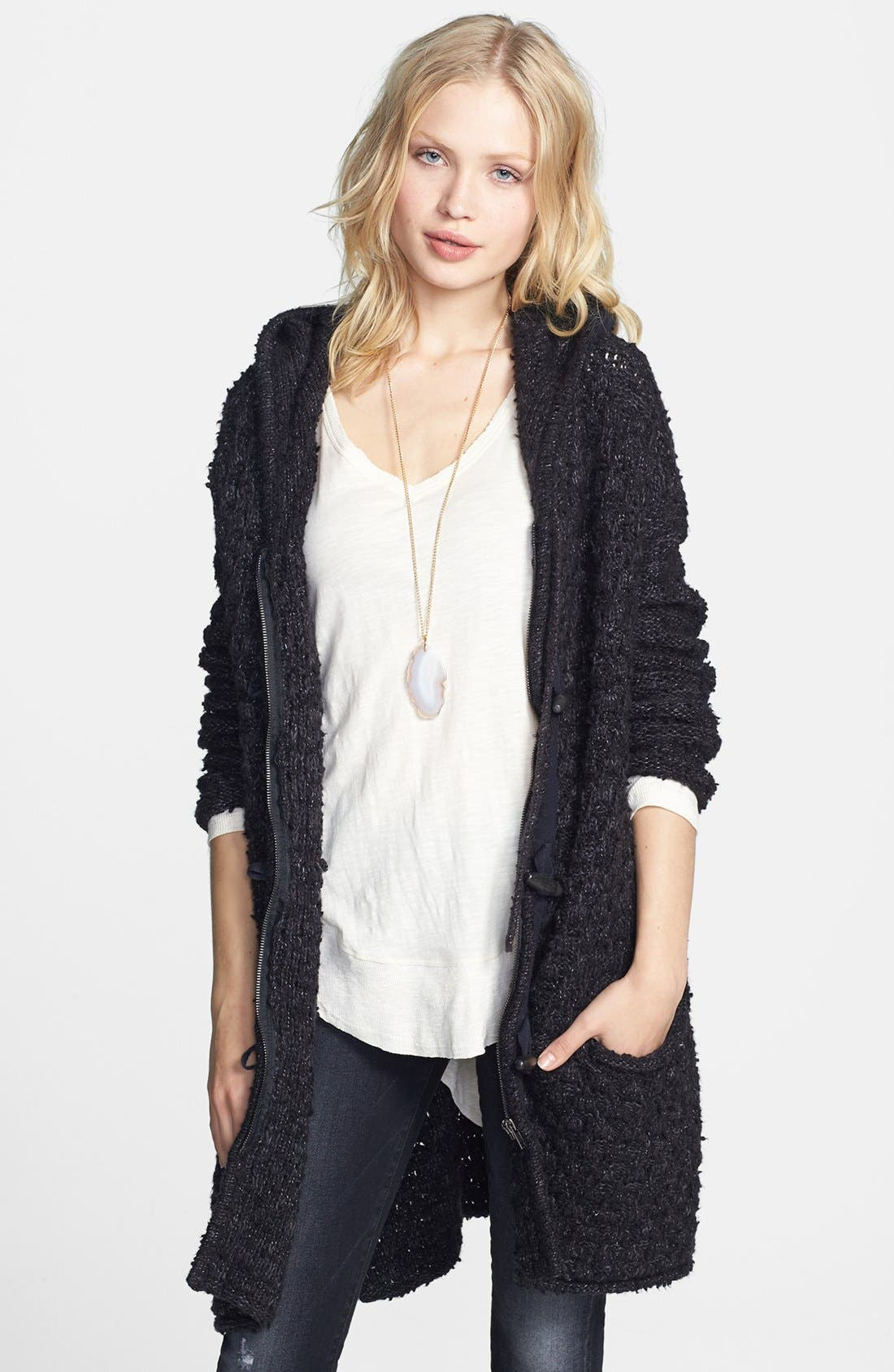 Main Image - Free People Knit Toggle Coat