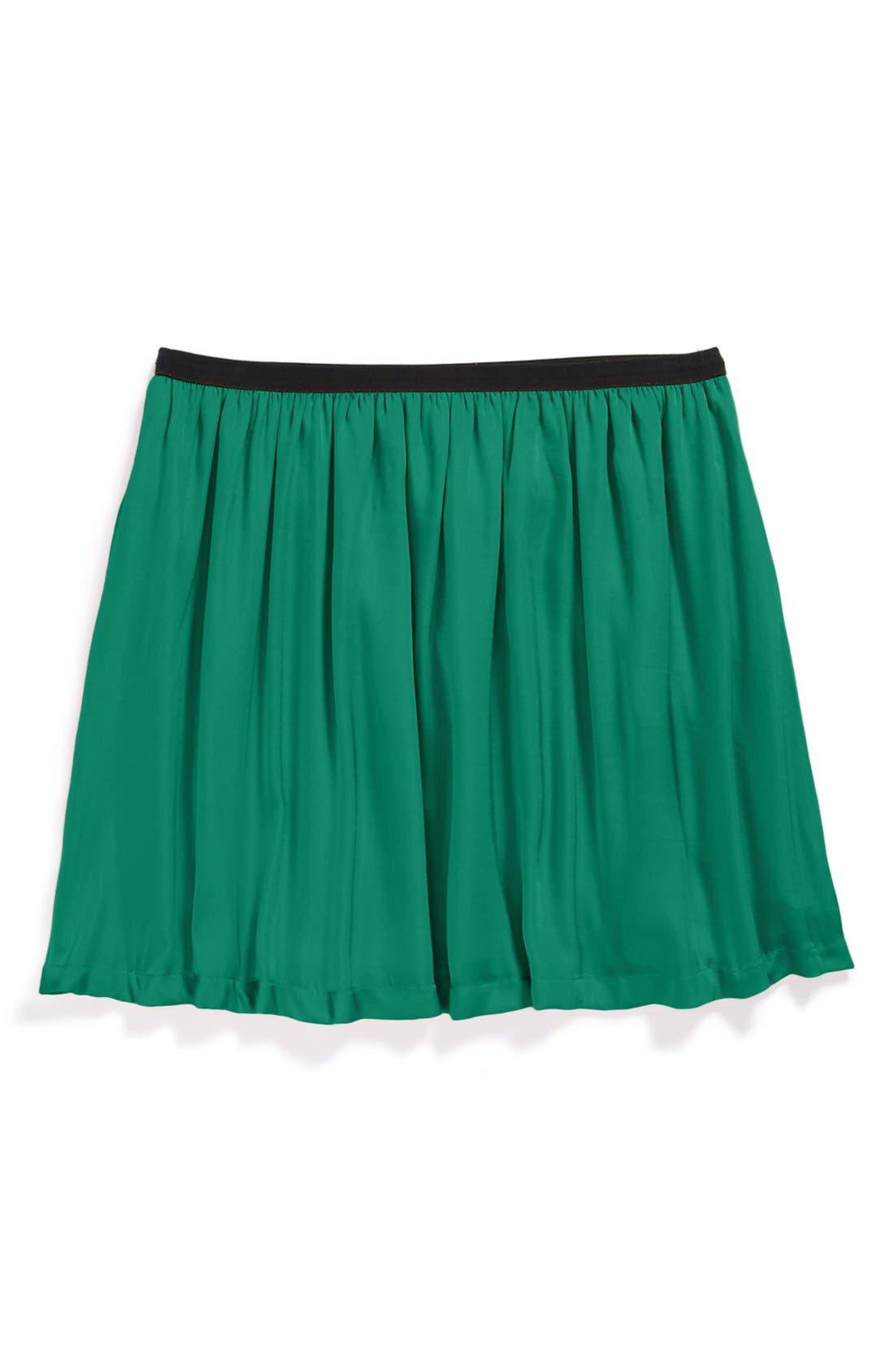 Alternate Image 1 Selected - Ruby & Bloom Satin Skirt (Little Girls & Big Girls)