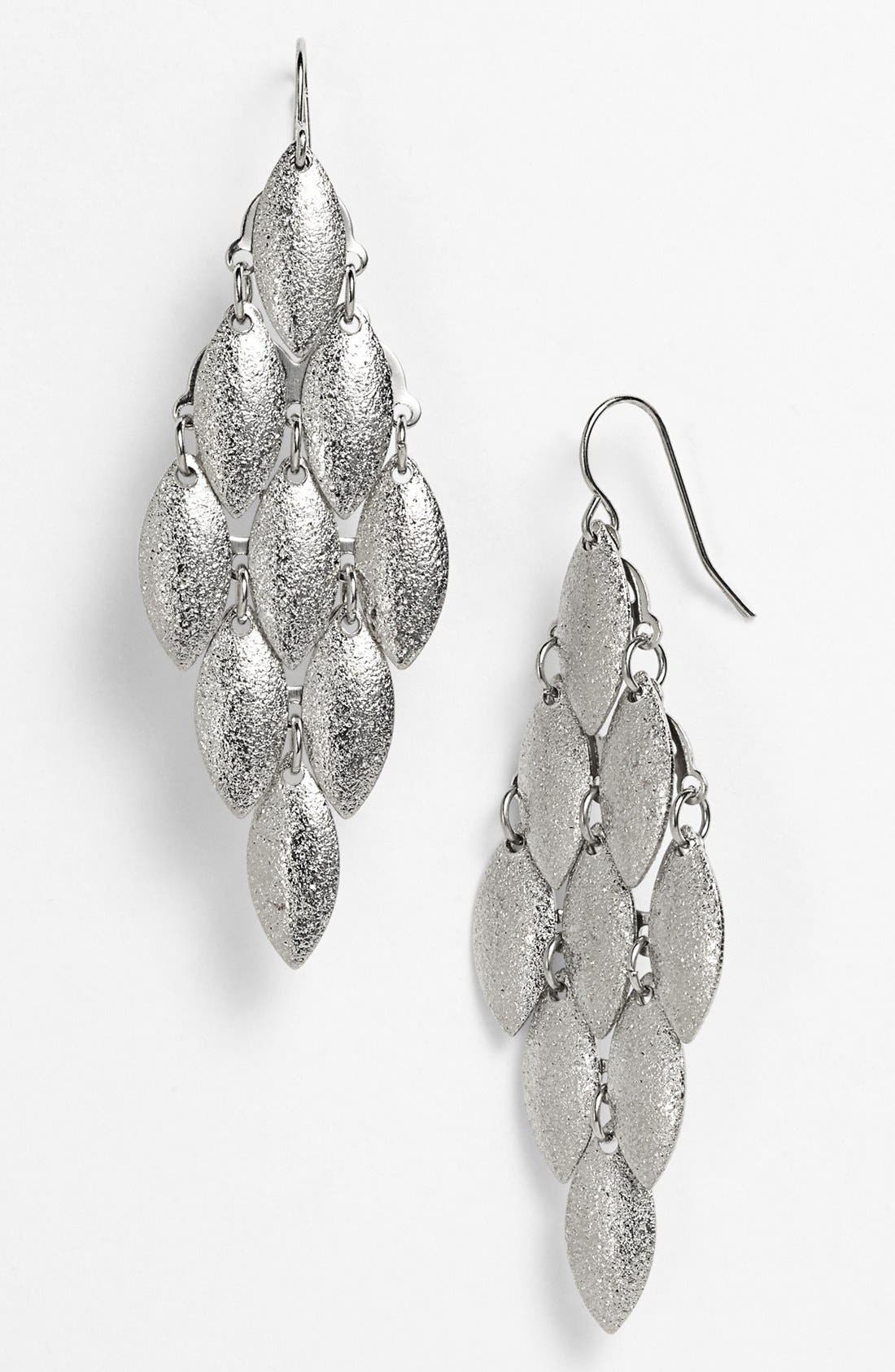 Main Image - Carole Foiled Chandelier Earrings (Juniors)