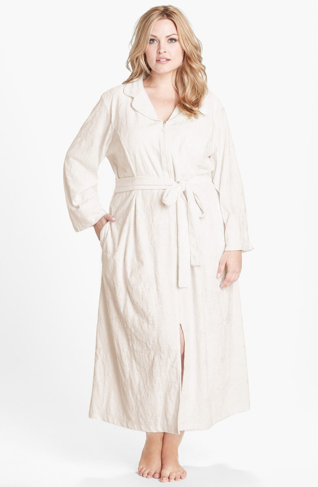 Alternate Image 1 Selected - Eileen West 'Palazzo Splendor' Zip Front Robe (Plus Size)