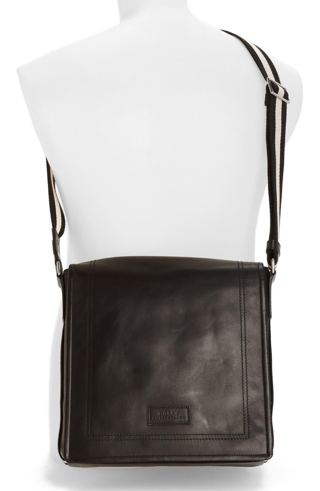Alternate Image 4  - Bally 'Small Triar Plain' Calfskin Messenger Bag