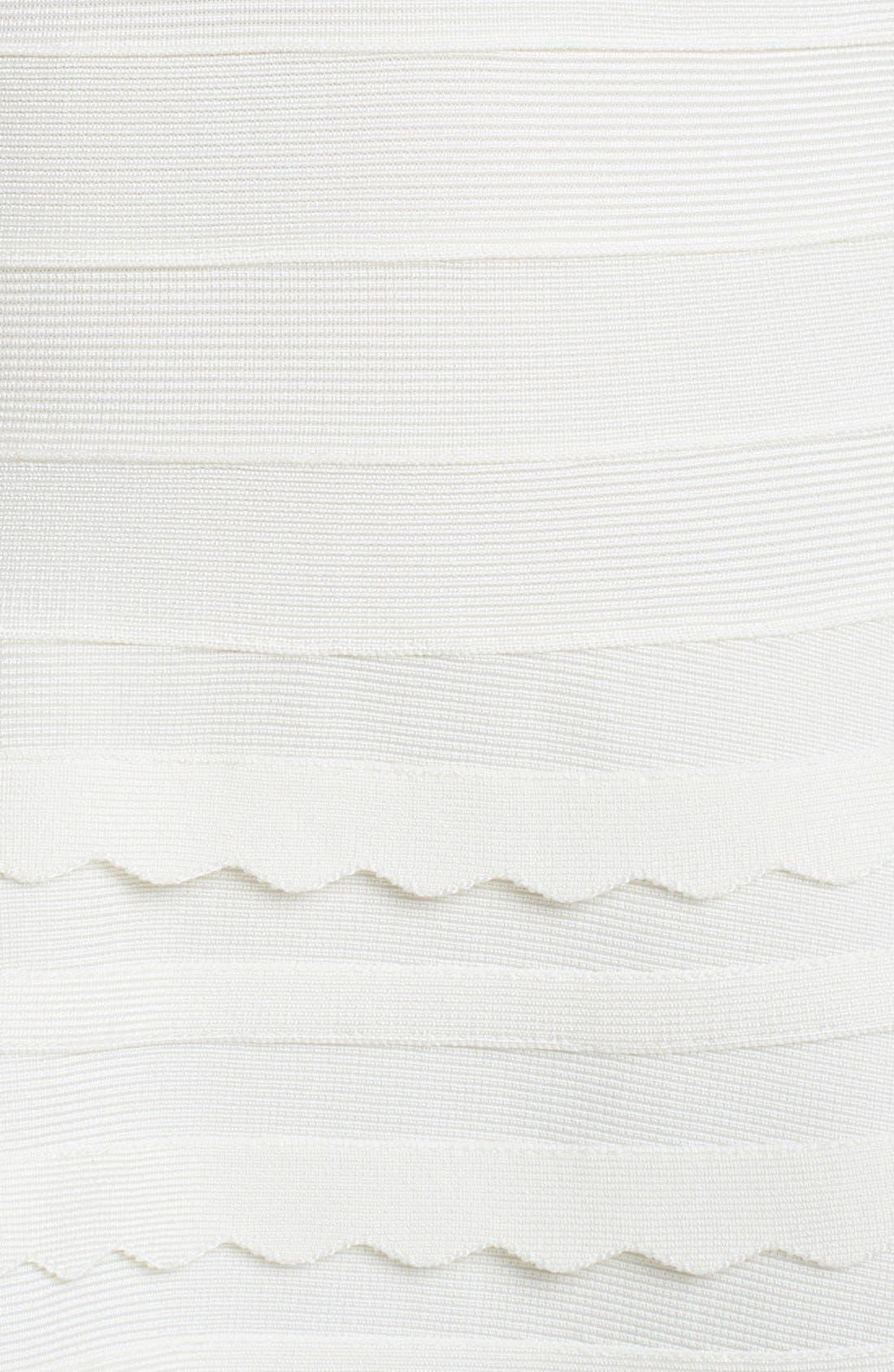 Alternate Image 3  - Herve Leger Scallop Detail Dress
