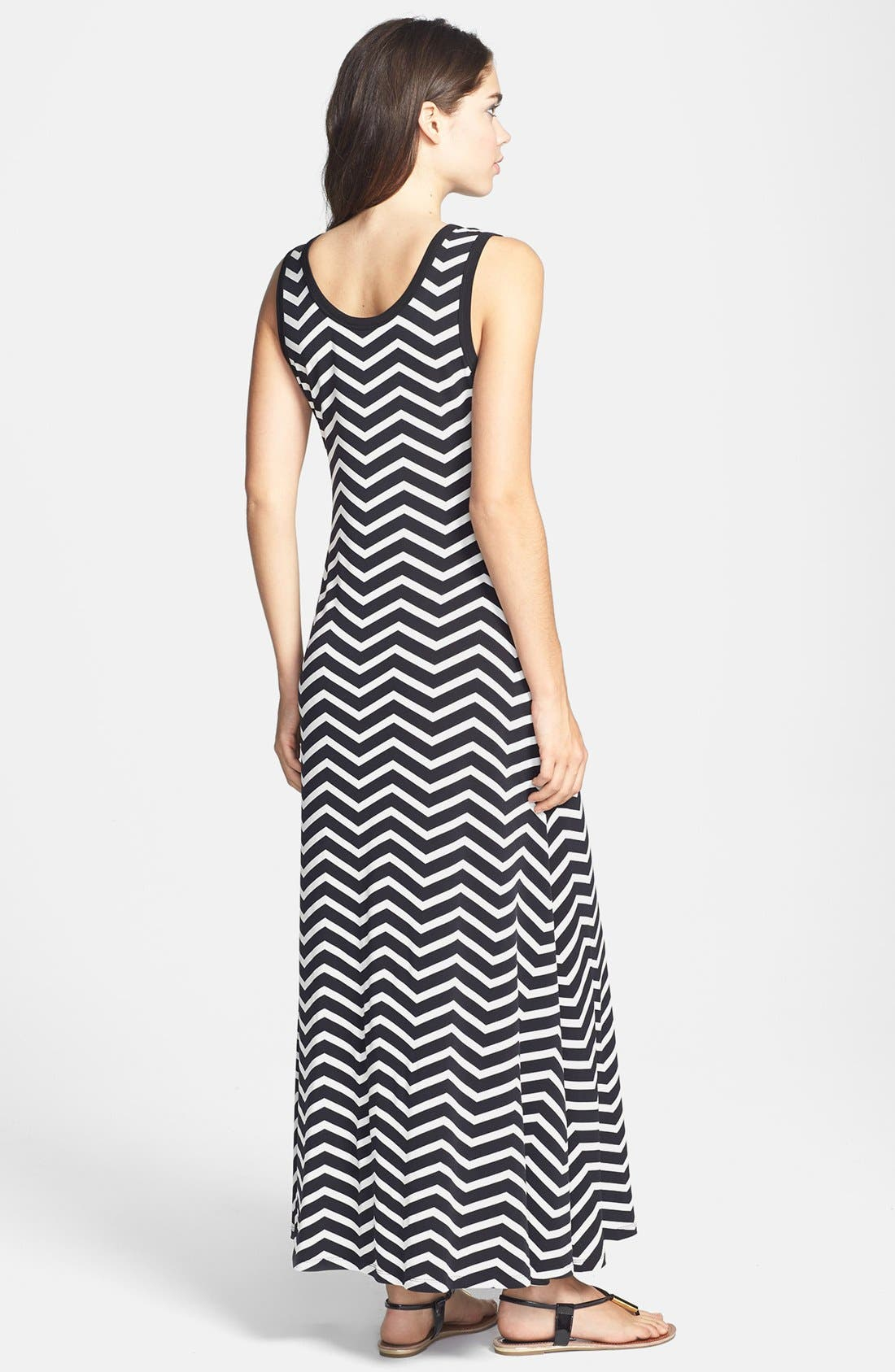 Alternate Image 2  - Calvin Klein Stripe Jersey Maxi Dress