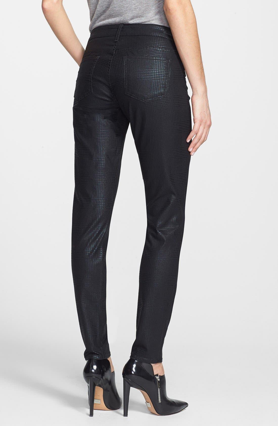 Alternate Image 2  - KUT from the Kloth 'Mia' Toothpick Skinny Jeans (Black)