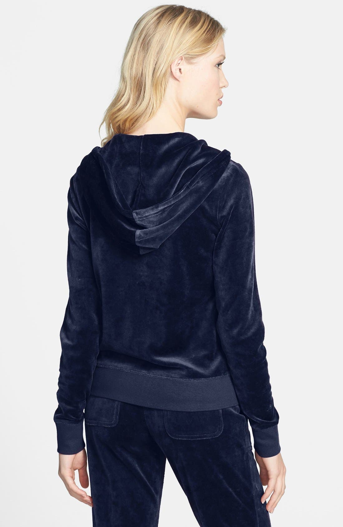 Alternate Image 2  - Juicy Couture Velour Zip Hoodie (Online Only)