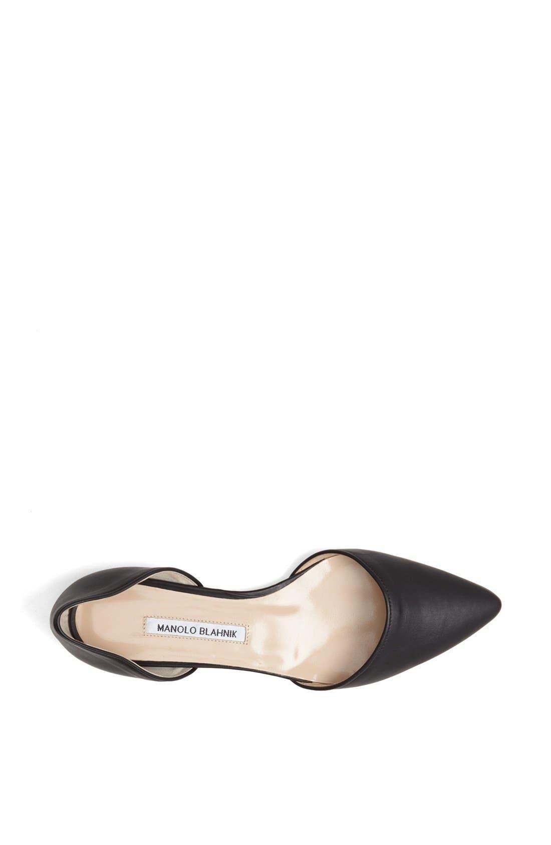 Alternate Image 3  - Manolo Blahnik 'Soussaba' Leather Pointed Toe Flat