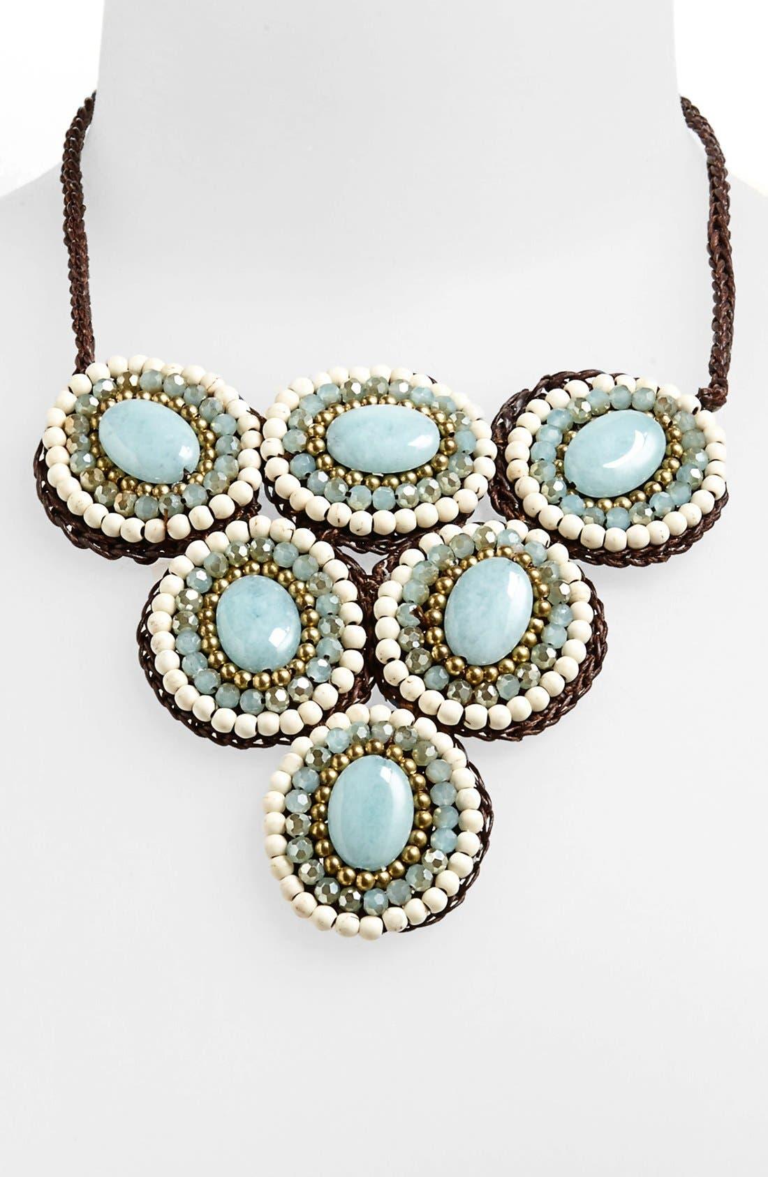 Main Image - Panacea Howlite Circle Bib Necklace