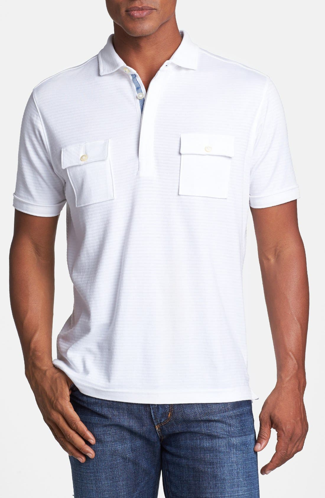Alternate Image 1 Selected - Tommy Bahama 'Shadow Stripe Spectator' Modern Fit Polo