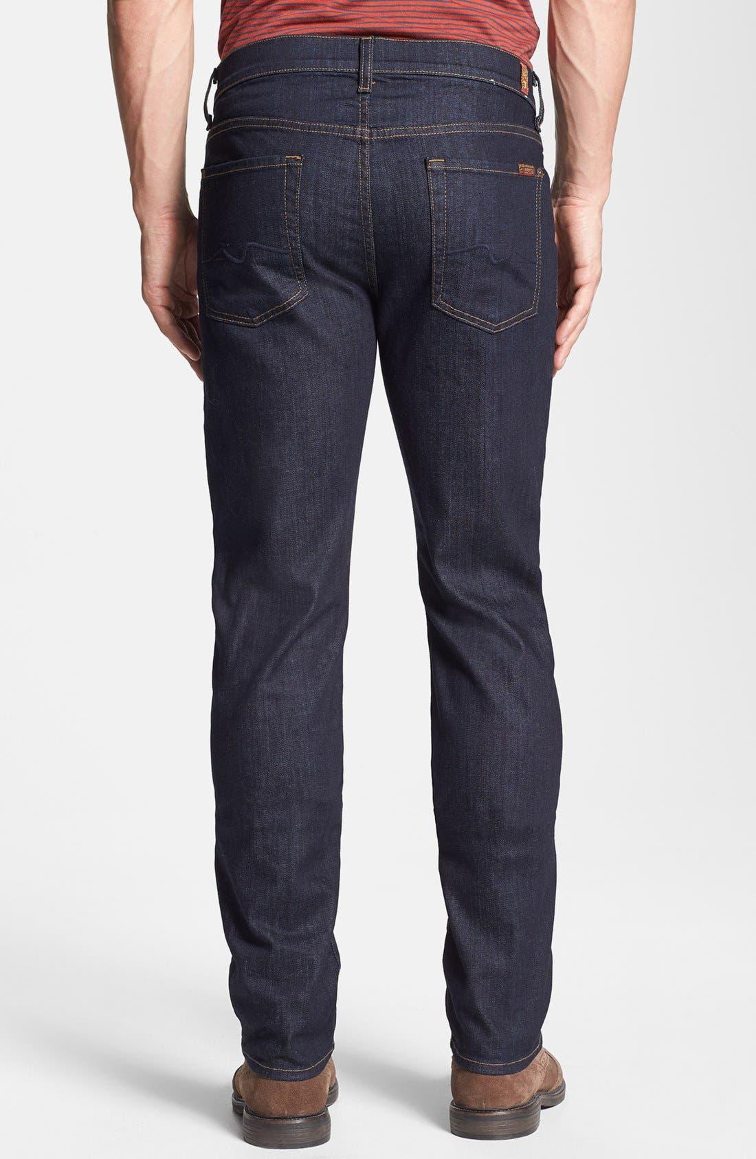 Alternate Image 2  - 7 For All Mankind® 'Slimmy' Slim Fit Jeans (Dark & Clean)