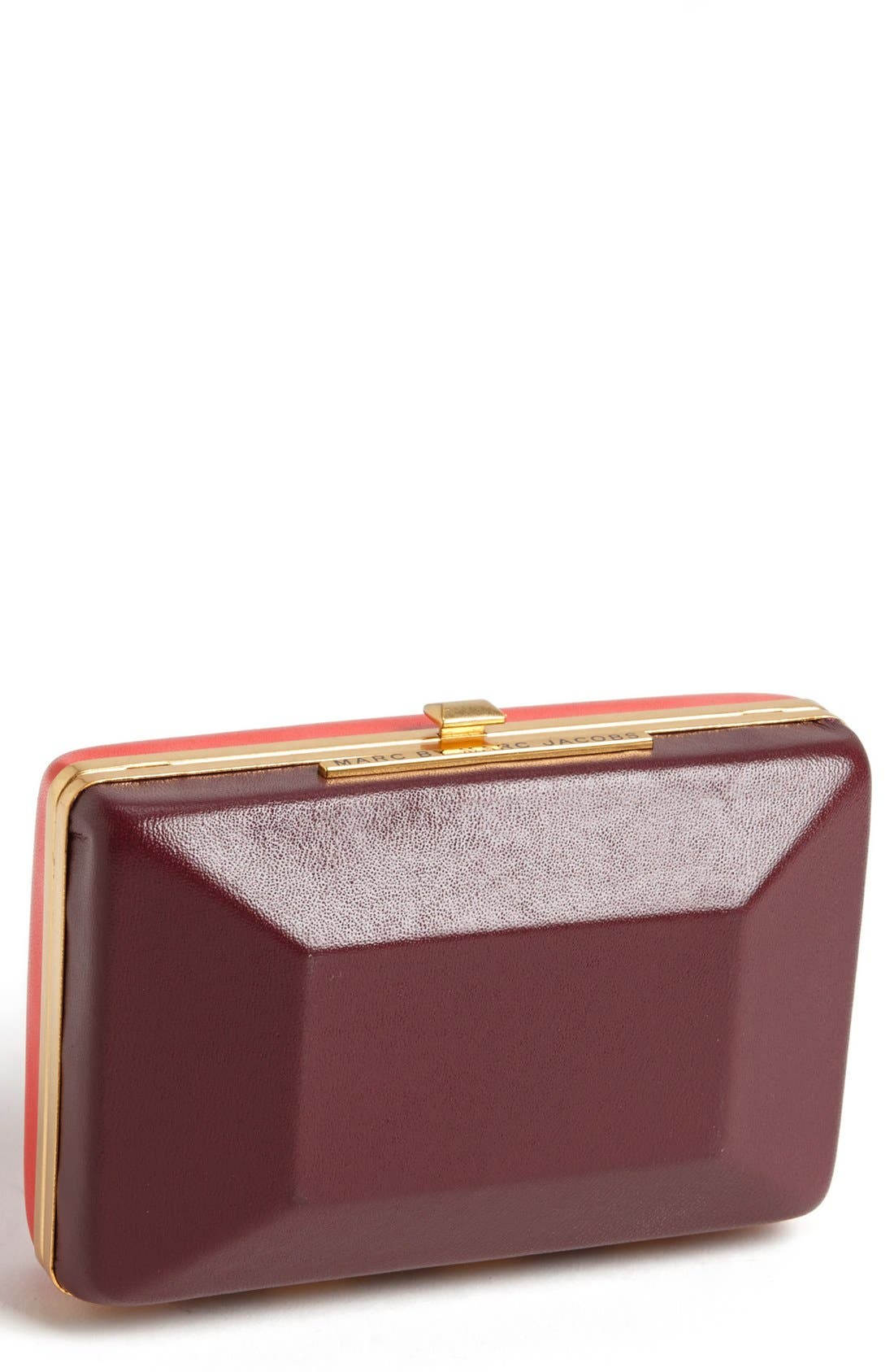 Main Image - MARC BY MARC JACOBS 'Box It Up' Colorblock Leather Clutch