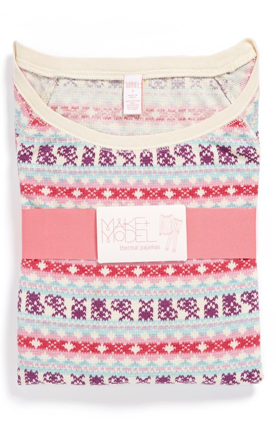 Alternate Image 1 Selected - Make + Model Thermal Pajamas